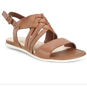 Ecco Touch braided tan leather sandal 41